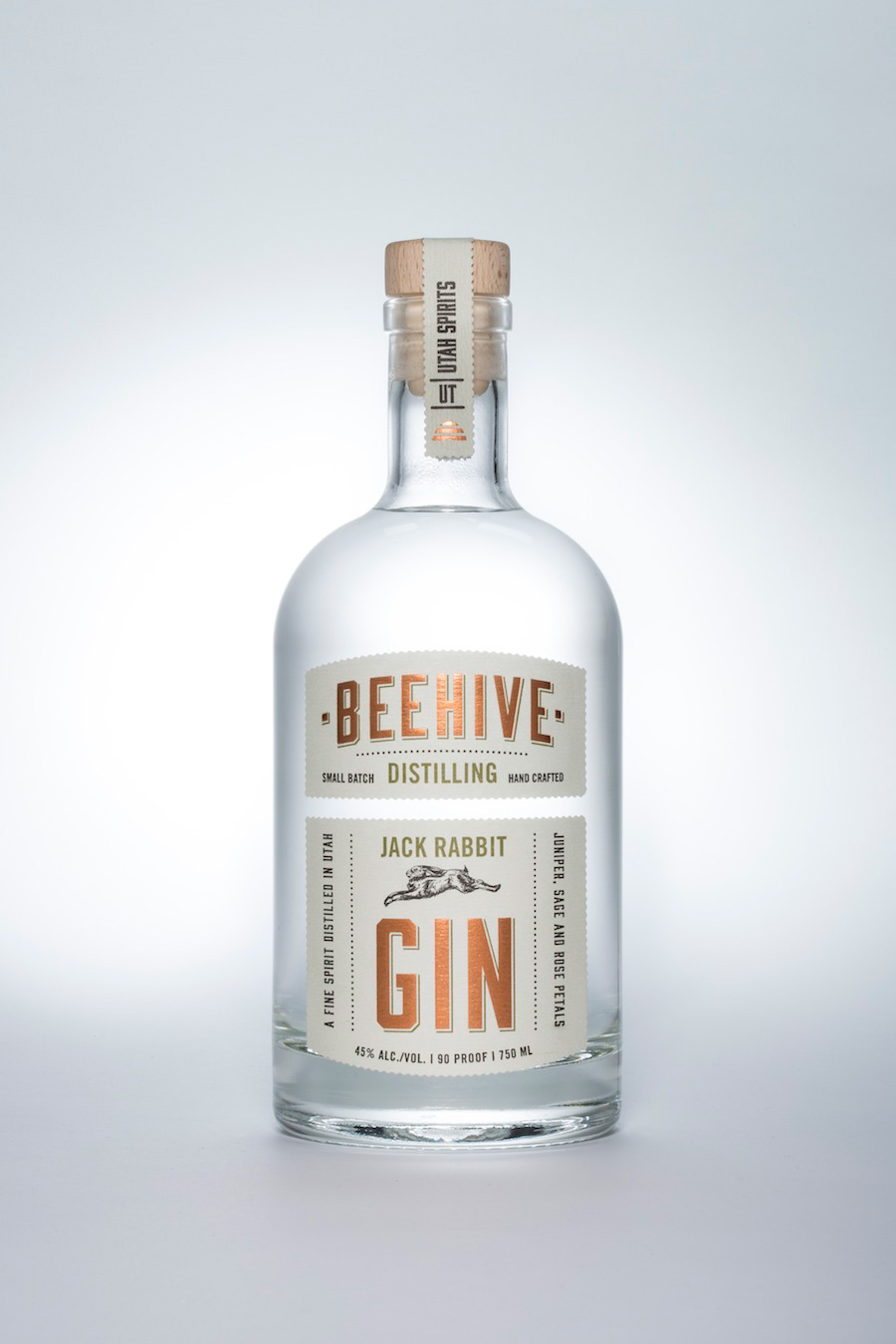 Beehive Distillery Jack Rabbit Gin Salt Lake City