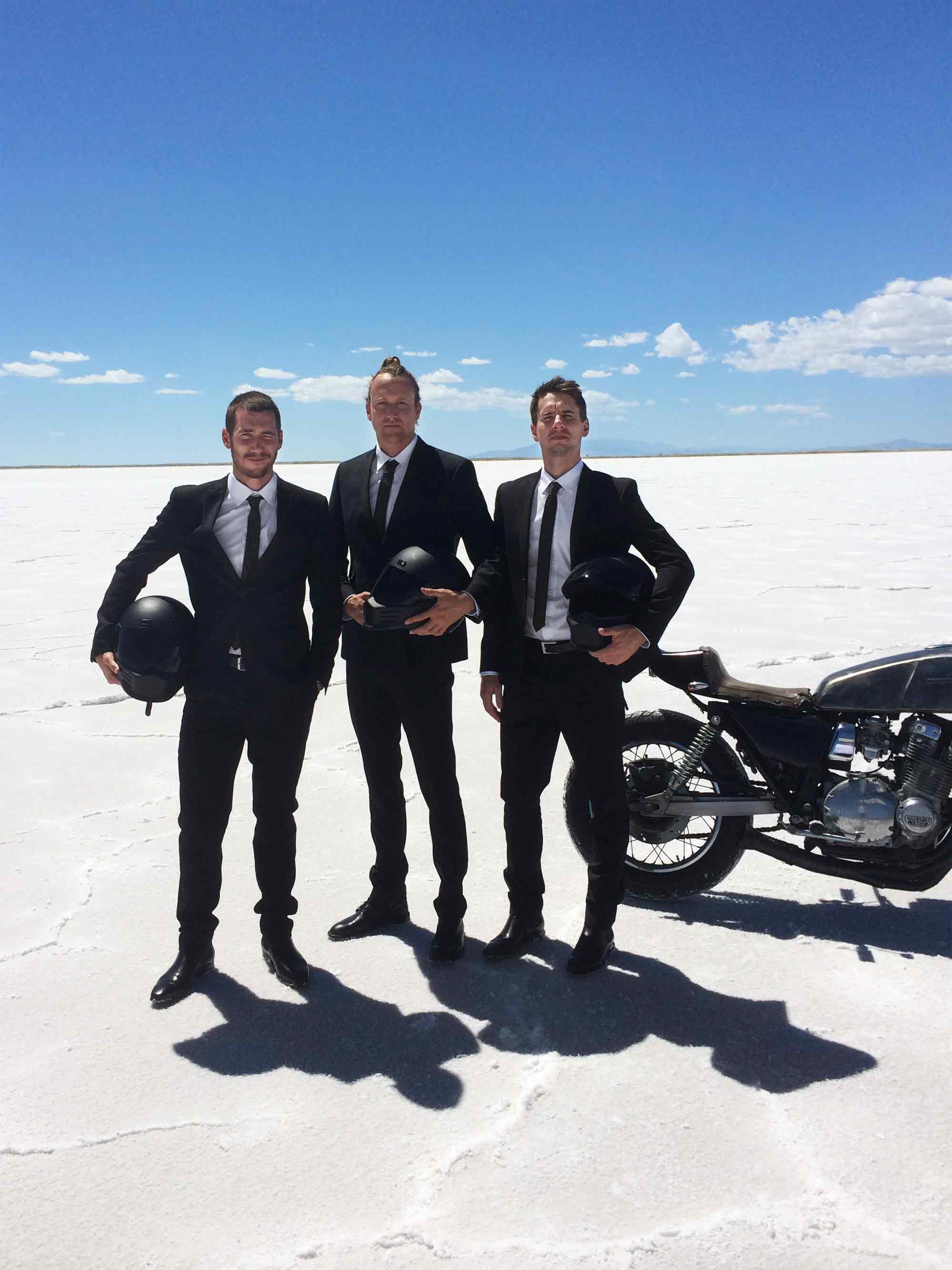 Hallenstein Brothers | Men's Clothing Production Salt Flats Utah 4